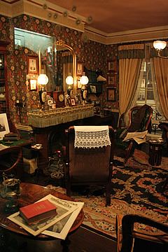 Sherlock Holmes' sitting room in the Meiringen Museum