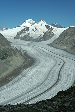 The Aletsch Glacier, Eggishorn August 2008