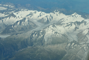 The Aletsch Glacier region from the air