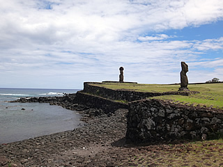 Easter Island: The harbour at Ahu Tahai