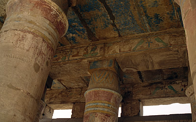 Original colours in the Festival Temple of Tuthmosis III, Temple of Karnak