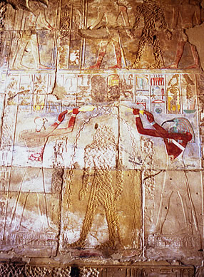 Defaced image of Hatshepsut, Temple of Karnak.