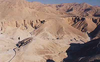 Looking down into the Valley of the Kings