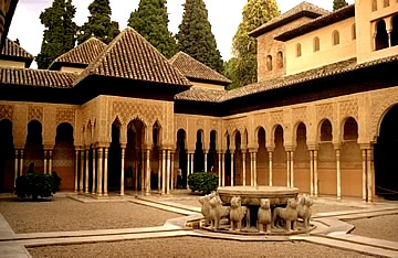 Granada Alhambra - court of the lions