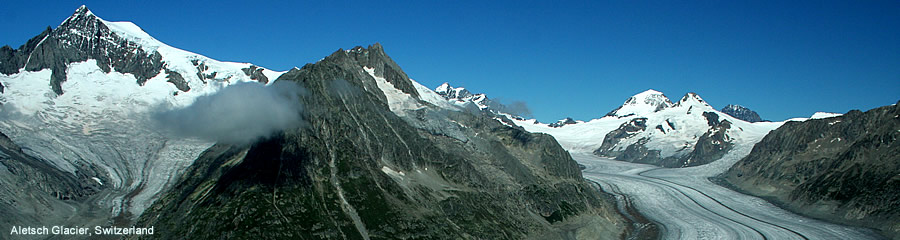 The Silk Route - World Travel: Aletsch Glacier, Switzerland