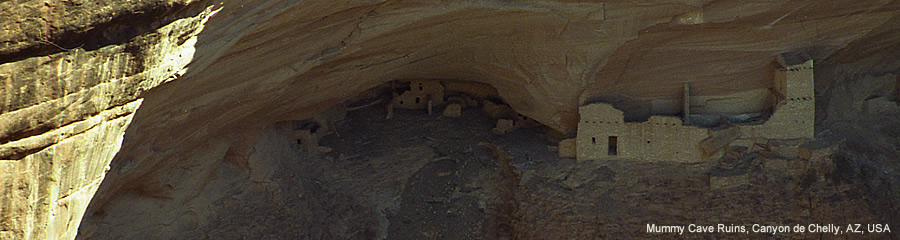 The Silk Route - World Travel: Mummy Cave Ruins, Canyon de Chelly, Arizona, USA