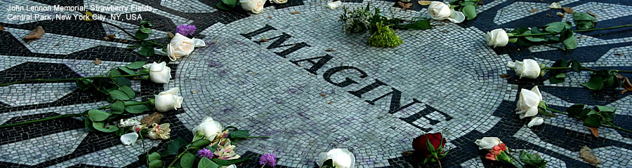 The Silk Route - World Travel: John Lennon Memorial, Strawberry Fields, Central Park, New York City, New York, USA
